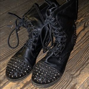 Shoes - Spiked black combat boots